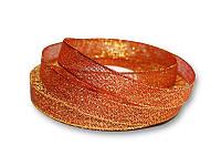 Лента - парча, цвет красный с золотом, 12 мм, 22,5 метра