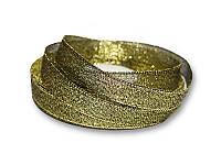 Лента - парча, цвет черный с золотом, 12 мм, 22,5 метра