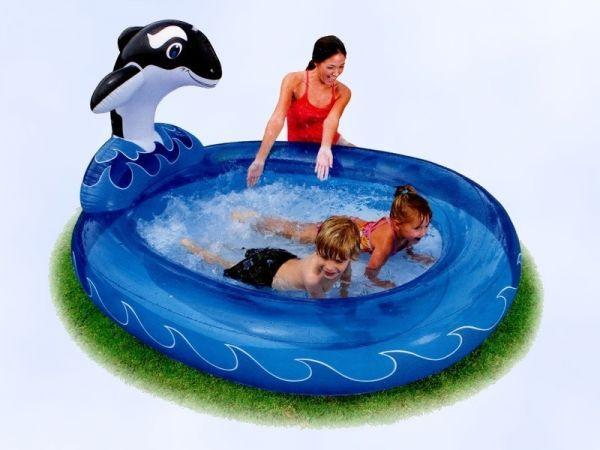 """Детский надувной бассейн """"Дельфин"""" Intex 57436, 203x157х107см"""