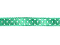 Репсовая лента в горошек - Бирюзовый, 9 мм, 1 метр