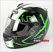 Мотоциклетный шлем Nax F15X / L ЗЕЛЕНЫЙ