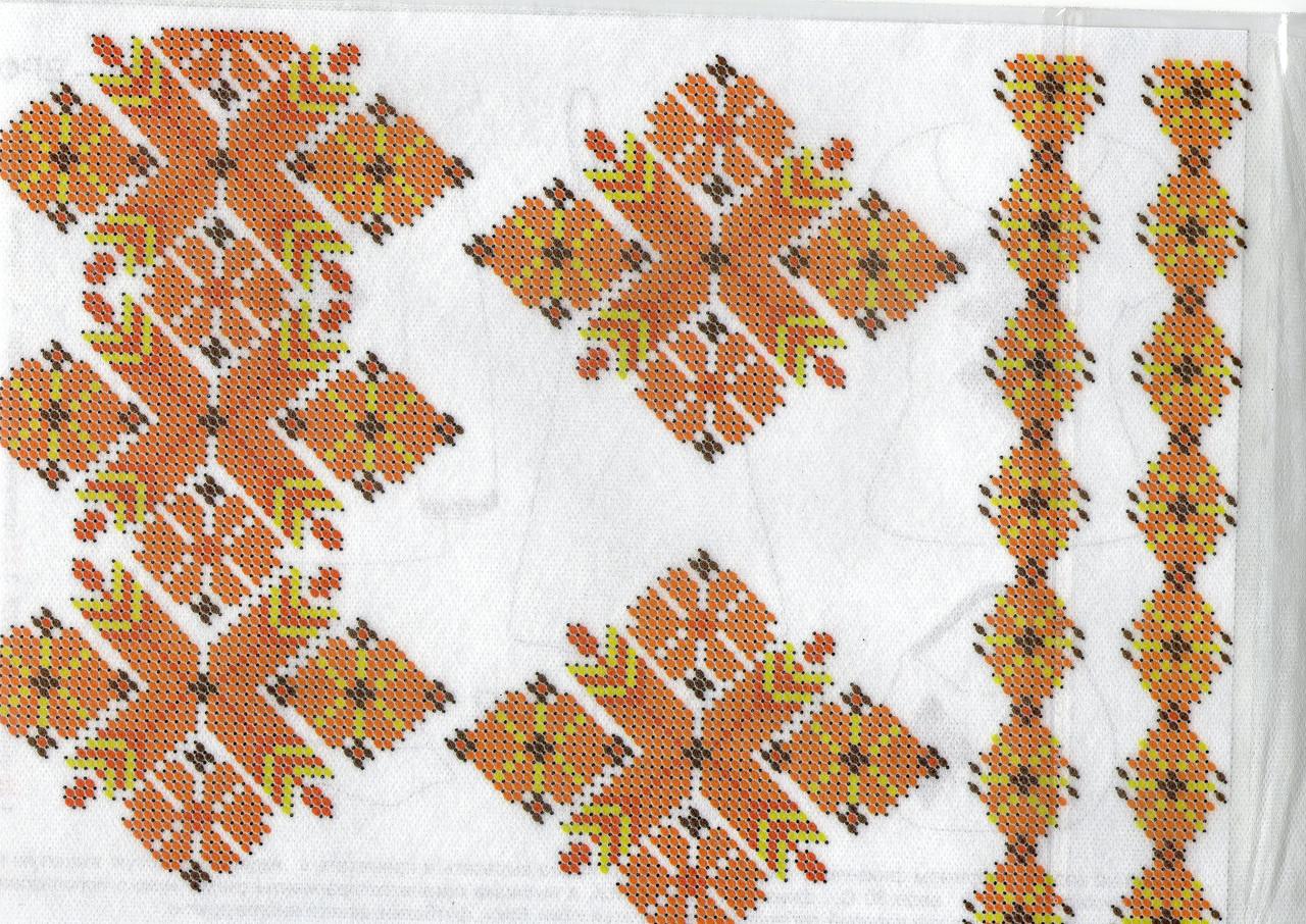 схема для вышивки бисером на водорастворимом флизелине от конфетти