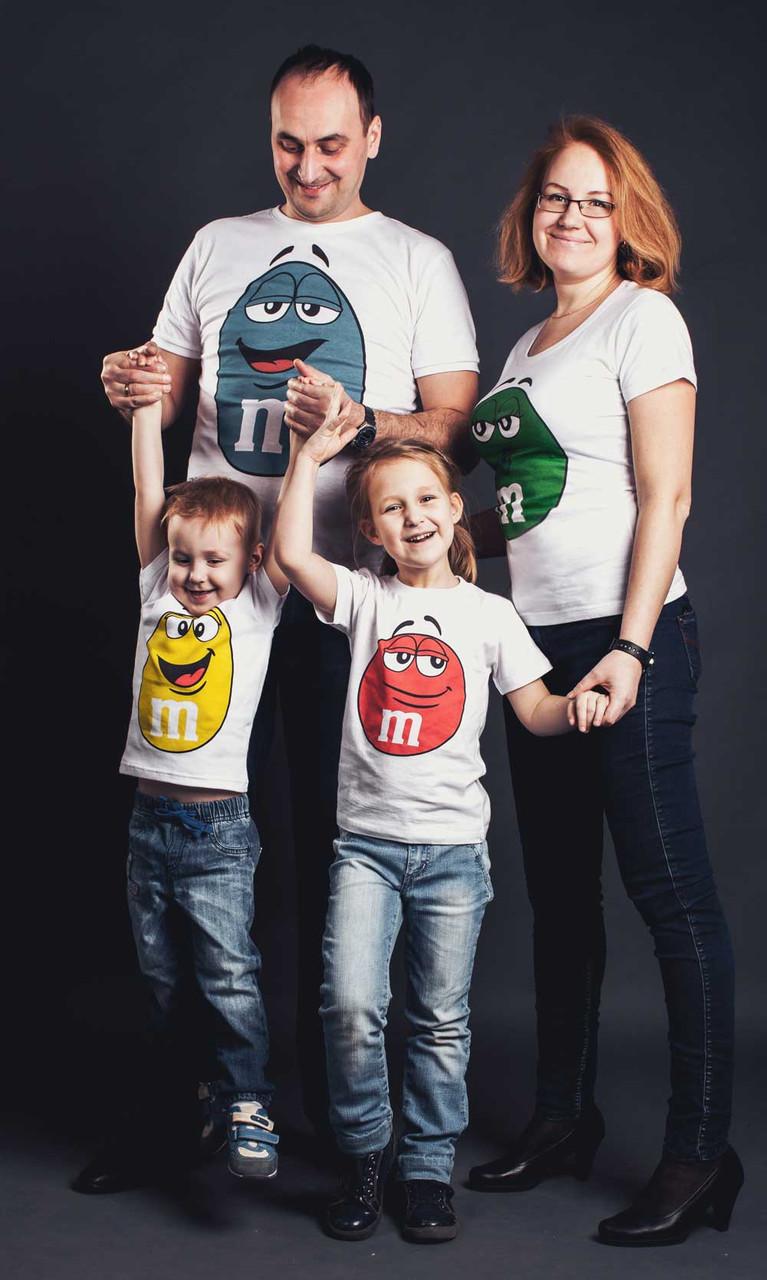 """Парные футболки """"Семья M&M's"""""""