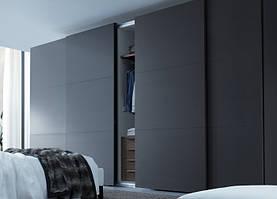 Шкаф купе на заказ Hettech Premium New 2016 зеркало сатин графитовое