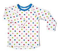 Детская футболка с длинным рукавом в горошек, 56