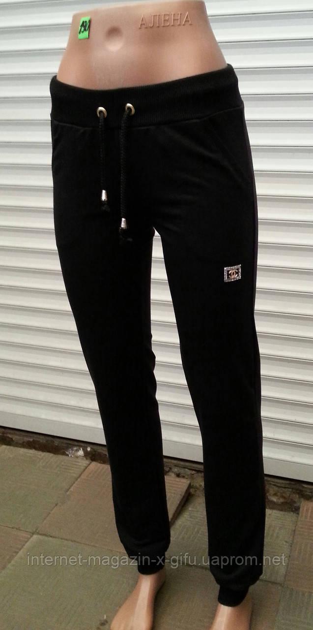 Молодежные женские спортивные брюки двухнитка на манжете - Интернет-магазин