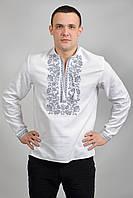 Стильная мужская рубашка снежно белого цвета