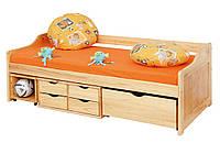Кровать из массива дерева 022