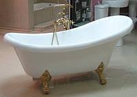 Акриловая ванна на львиных лапах Treesse Epoca V5071 170см золото