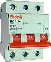 Автоматический выключатель ВА 1-63 4,5kA 63A 3P С Electro, фото 1