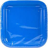 Бумажная одноразовая тарелка квадратная - Royal Blue