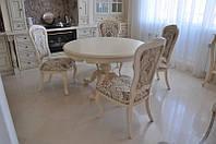 Обеденный круглый стол в стиле барокко