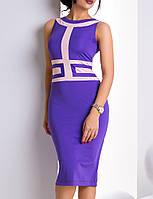 Элегантное платье | Рим lzn фиолетовый+св.розовый