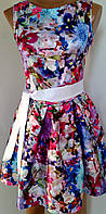 Платье атласное летнее 44-46 р