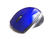 Беспроводная компьютерная мини мышка (Синяя)