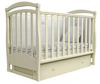 Детские кроватки ВЕРЕС Соня ЛД6 маятник с ящиком (слоновая кость)