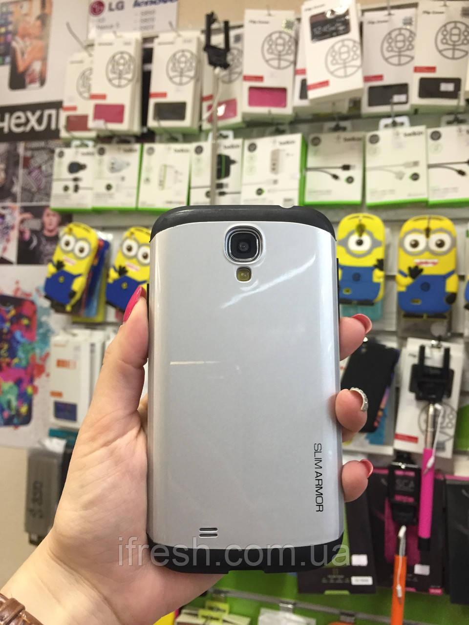 Чехол Slim Armor для Samsung S4 i9500, серебро
