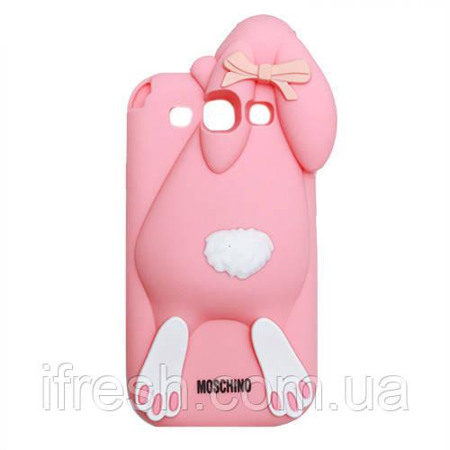 Чехол заяц Moschino для Samsung S4 i9500, персиковый