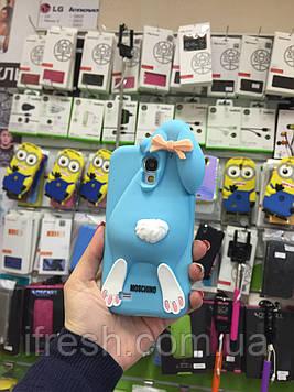 Чехол заяц Moschino для Samsung S4 i9500, голубой