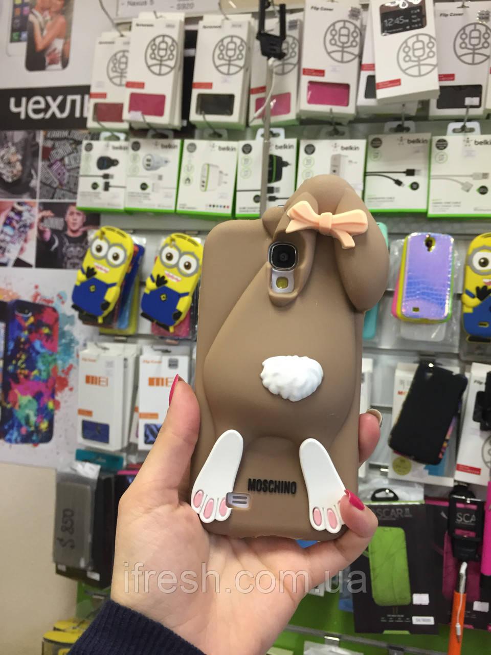 Чехол заяц Moschino для Samsung S4 i9500, шоколадный