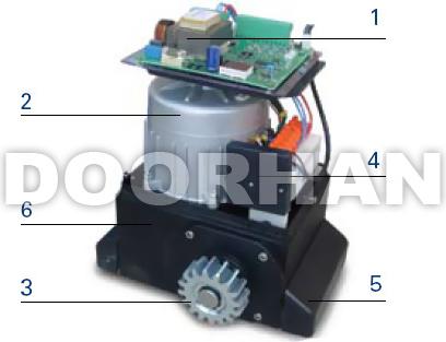 Конструкция привода для раздвижных ворот Doorhan Sliding 1300