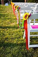 Украшение стульев лентами