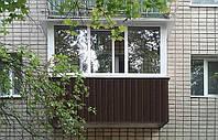 Наружная и внутренняя обшивка балконов и лоджий