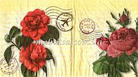 """Салфетка для декупажа, """"Винтажные розы, почта"""", 33х33см"""