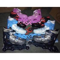 Ролики светящиеся раздвижные Baby Tilly BT-RS-0002 размер M (35-38) PVC колеса 4 цвета,сумка