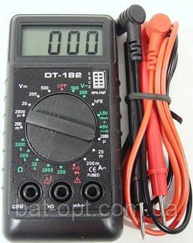 Мультиметр цифровой (тестер) DT-182, 2 щупа