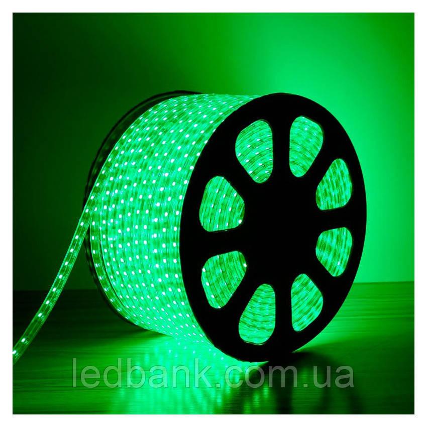 Светодиодная лента 220В SMD5050 60LED IP68 Зеленая