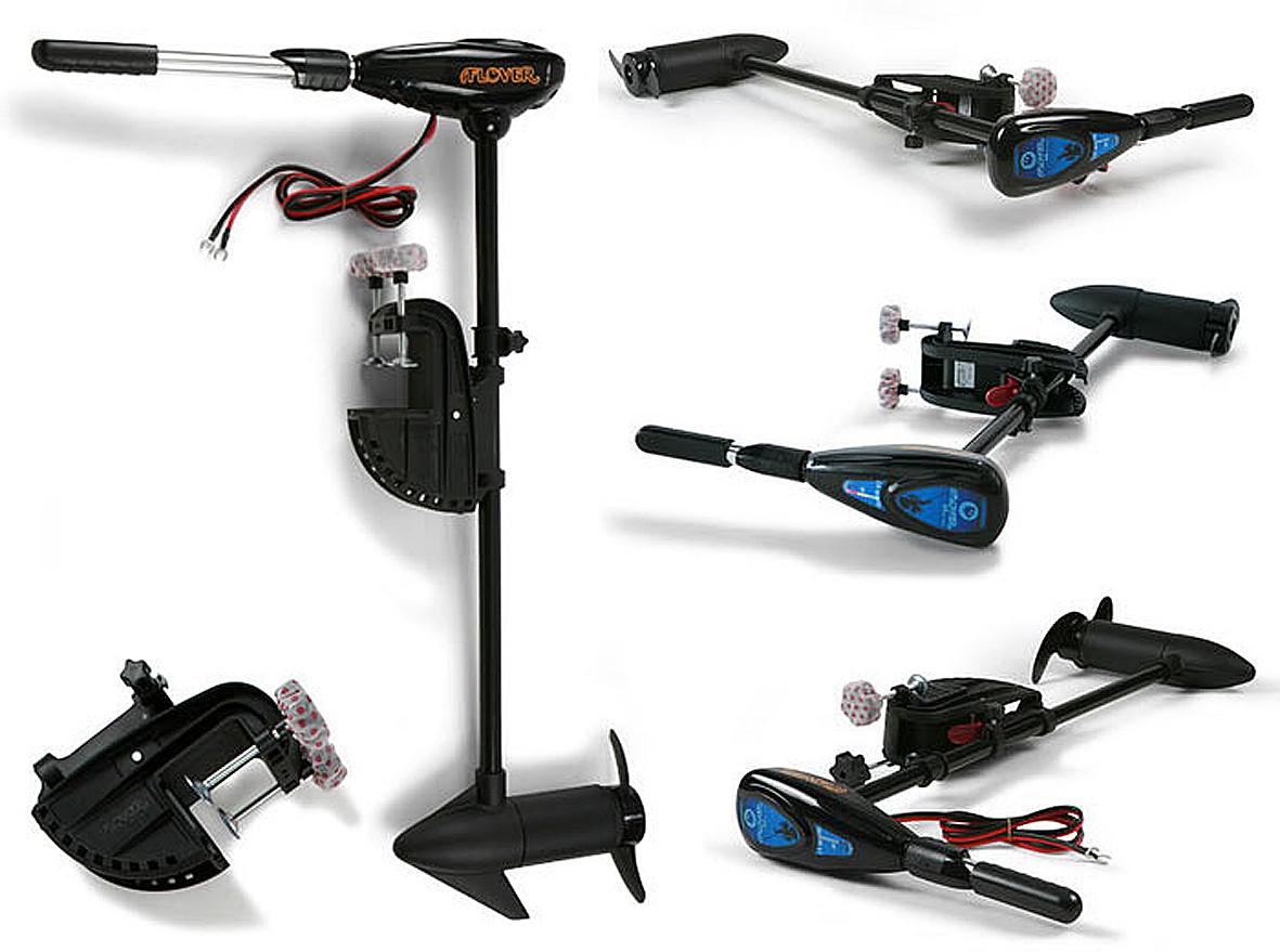 Электрический лодочный мотор Flover 50TG ( с телескопической ручкой и индикатор зарядки АКБ )