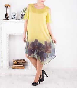 """Нарядное шифоновое платье """"Ариадна"""" большого размера от 50 до 62"""