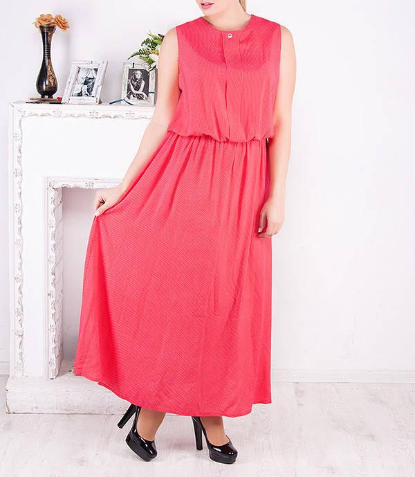 """Летнее платье в пол больших размеров """"Арсия"""" от 50 до 62"""
