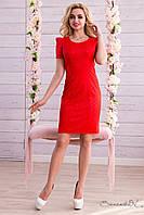 Женское классическое красное платье+большой размер