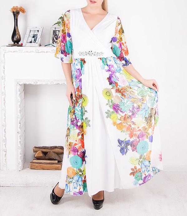 """Роскошное шифоновое платье """"Анабелла"""" от 50 до 62 размера"""