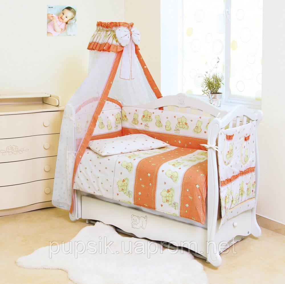 Постельный комплект для новорожденного Twins Comfort Мишки со звездами (8 предметов)
