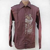 Рубашка мужская D&A коричневая