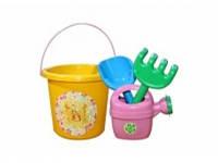 Детский набор для песочницы №1 013555 Фламинго-Тойс, желтый