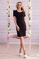 Женское классическое чёрное платье + большой размер