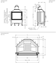 Каминная топка SPARTHERM Varia 1V RLU, фото 3