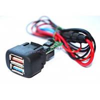 """USB - зарядное устройство 2 Port  ВАЗ 2113-14-15, """"Калина"""", """"Шевроле-Нива"""""""