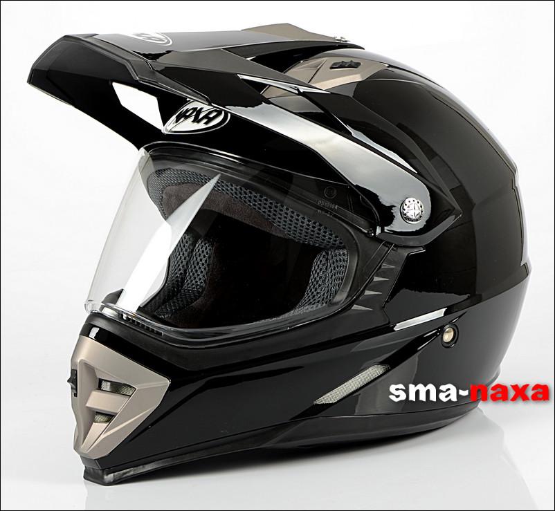 Мотоциклетный шлем  Nax CO2A GLOSS+ СТЕКЛО  / M