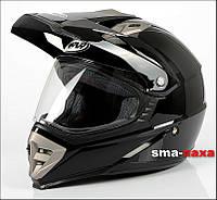 Мотоциклетный шлем  Nax CO2A GLOSS+ СТЕКЛО  / M, фото 1