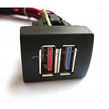"""USB зарядний пристрій 2 port для а-м """"Пріора"""" """"Гранта"""", """"Калина-2"""", фото 2"""
