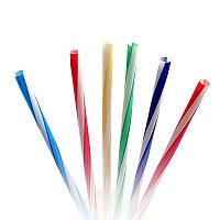 Пластиковые винтовые коктейльные трубочки: 500 шт, 250 мм, d=8, Фреш (разноцветные)