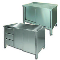 Тумба-стол нержавеющая для кухонь ресторанов, столовых, кафе