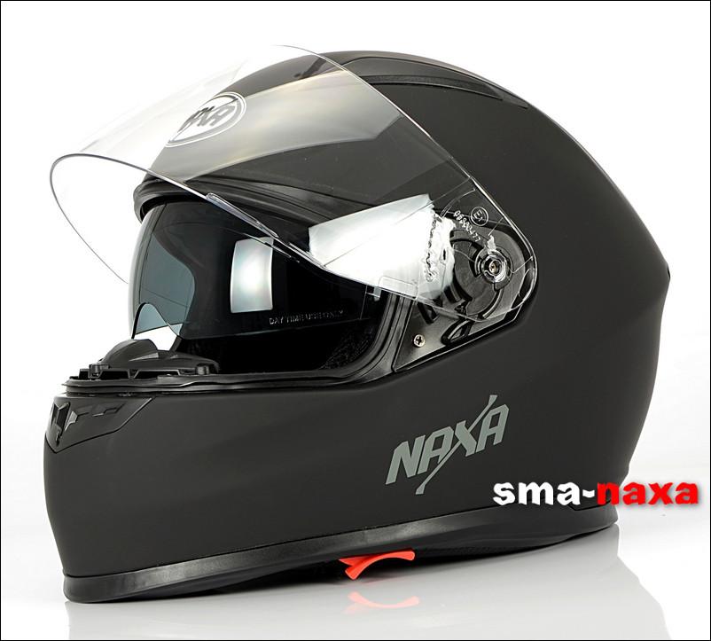 Матовый мотоциклетный шлем Nax F19 /B   / Размер L