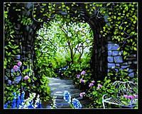 "Картина по номерам ""Арка в  старом саду"" худ.С.Риос"