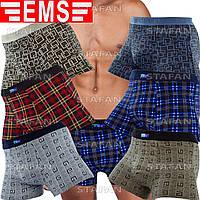 Мужские трусы бамбук Ems 202 3XL. В упаковке 6 штук. Размер 52-54.